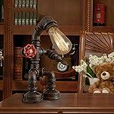 SOBOI.C Wasserrohr Tischlampe Antiker Roboter, der Tischlampe Modelliert E27 Lichtquelle Home Erweiterte Dekorative Tischlampe Innenbeleuchtung