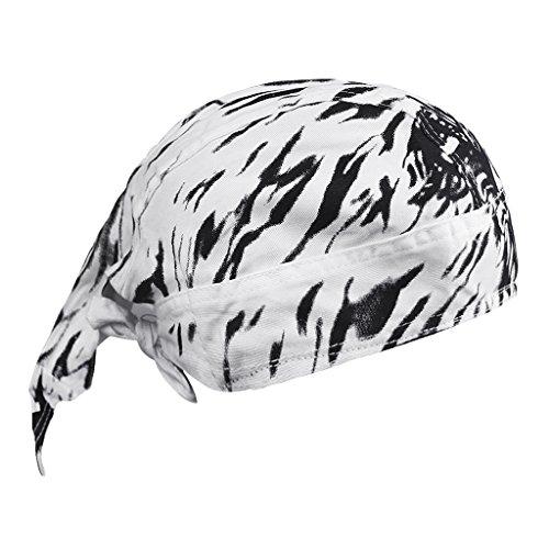 YJZQ Sport Bandana Cap Baumwolle Kopftuch Bikertuch UV Schutz Atmungsaktiv Pirat Schal Outdoor Radfahren Absorbiert Schweiß ()