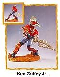 crazyworks Sport Warriors 'Ken Griffey Jr' Figur & Zubehör in Display Fall. 1999Edition