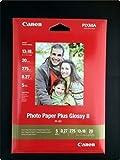 Canon Fotopapier, 20 Blatt 13 x 18, Hochglänzend glossy, 265g PP-201 Photo Paper Plus Glossy II 265g, 13x18, PP201