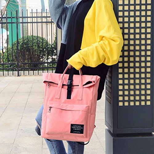 Bzline® Borsa Da Viaggio A Tracolla Borsa Da Viaggio In Nylon Moda Donna Rosa