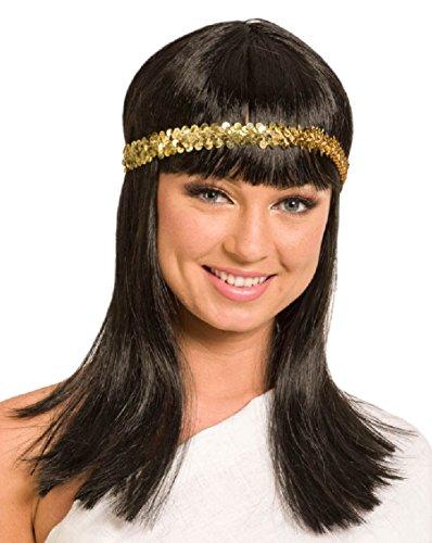 ke Cleopatra, One Size, schwarz (Schwarze Cleopatra Perücke)