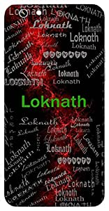 Loknath (Lord Of All Worlds, King) Name & Sign Printed All over customize & Personalized!! Protective back cover for your Smart Phone : Samsung Galaxy A-5