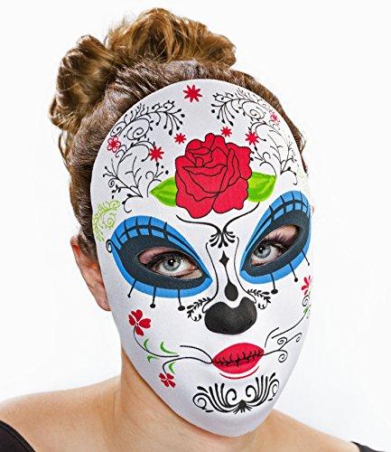 Textil-Maske -Tag der Toten-, (Maske Toten Der Tag Weiblich)