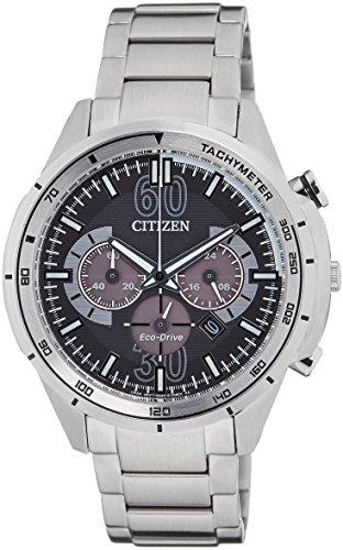 Citizen Eco-Drive Analog Black Dial Men's Watch - CA4120-50E image