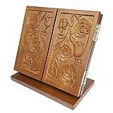 Holz Falten Desktop Schminkspiegel Vierblättriges Kleeblatt Skulptur Tragbar Passend Für Reise Haushalt Frisierspiegel von RLF.LF,B,18 * 10 * 17.5