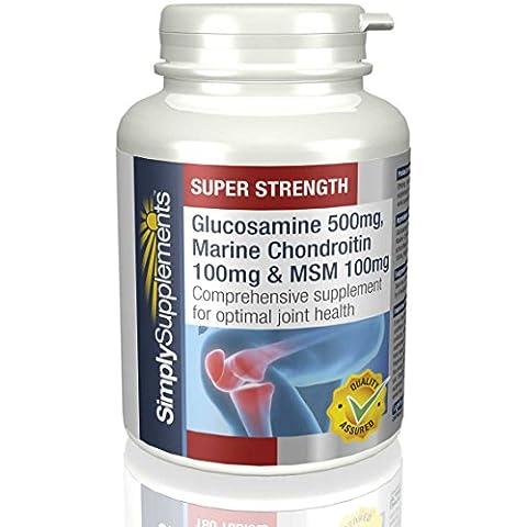 Glucosamina, Condroitina e MSM|3 Nutrienti Fondamentali per il benessere dei Tessuti e delle Cartilagini delle (Glucosamina Solfato Msm)