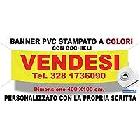 Striscione Pvc Stampato in Quadricromia Personalizzato e con Occhielli di Rinforzo Adesivo4You