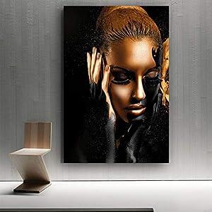 Leinwanddruck,Malerei Auf Leinwand Wandkunst,Afrikanische Schwarze Frau Hd Print Abstrakte Poster Moderne Kreative Wandkunst Leinwanddruck Inkjet Bild Pop Art Für Wohnzimmer Schlafzimmer Wohnkultur