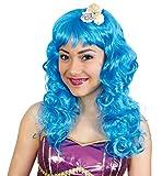 Parrucca sirena blu con conchiglie