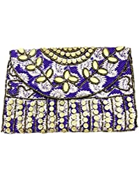 Shubhangi Women's Sling Bag (Jaipuri Embroidered Handicraft Traditional Sling Bags,Embroidery Sling Bag,beads... - B0795X1DKT