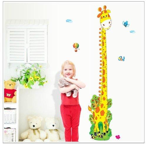 Aeromdale Girafe Hauteur Mesure Toise en pouces et Centimètres amovible Stickers muraux