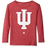NCAA Indiana Hoosiers Womens Her Full Color Primary Logo L/s Crew Teeher Full Color Primary Logo L/s Crew Tee, Victory Red, Medium