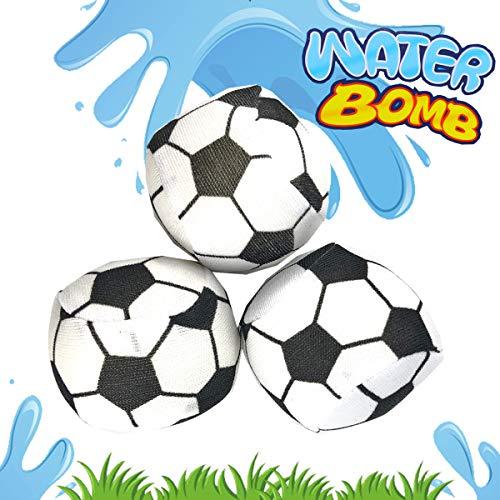 Cepewa Wasserbomben Wasserball Fussball 6tlg Spielball Ball ca.5cm Splash Strandball Beachball (Fußball Strand Ball)