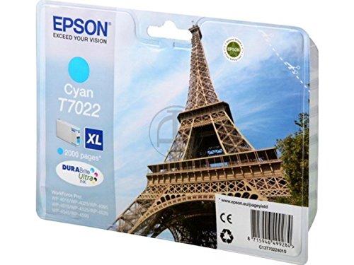Preisvergleich Produktbild Original Tinte Epson T7022 C13T70224010 - 1 Tinten-Patrone - Cyan - 2.000 Seiten