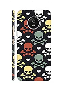 SRS Danger Skulls 3D Back cover for Moto G5