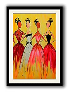 ArtStory All the Lovely Ladies fashion framed wall painting