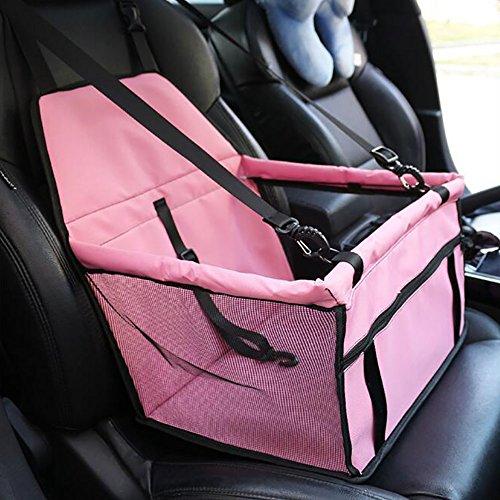 Hunde Autositz Haustier Autositzbezug Auto Sitzerhöhung Wasserdichte Autositzabdeckung Schutz Decke Matte Mit Sicherheits Gurt Leine Für Kleine Welpen Katze Hund ,Pink -