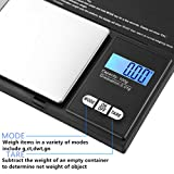 Hoosiwee Digital Pocket Scales,100g 0.01g Protable Kitchen Weighing Scale, Precision Jewellery Scales, with LCD-Display, Stainless Steel Platform, Tare Function for Jewelry, Cooking, Drug, Coffee