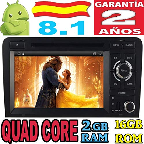 Audi A3 (2003-2011) S3 RS3 RNSE-PU Android 8.1 Quad Core 2GB RAM...