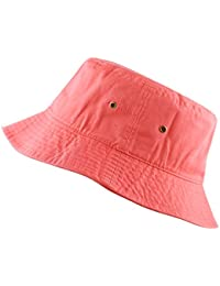 a1898fa7 THE HAT DEPOT 300N Unisex 100% Cotton Packable Summer Travel Bucket Hat