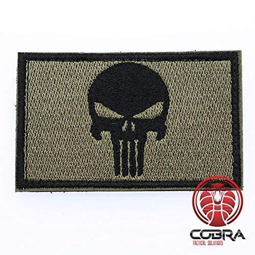 Punisher Patch Tactical Army Morale Emblem Totenkopf Digital Camo mit Klettverschluss Airsoft - Camo Swat Kostüm