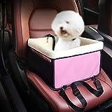 ZHANGZHIYUA Gewidmet Doggy Deluxe Dog Booster Autositz - Clip-on-Sicherheitsleine - Aufbewahrungstasche - Perfekt für kleine