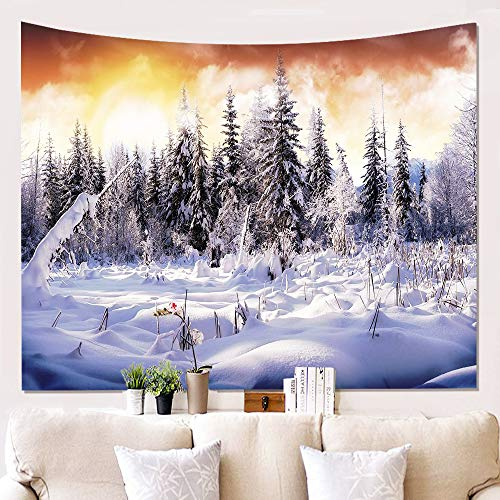 xkjymx Home Snow Wall Cloth Panno Appeso Sfondo Panno Pittura Tapestry W180812-G022