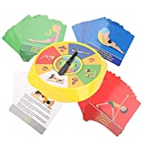 Zerodis- Juego de Mesa de Yoga 54 Pose de Yoga Tarjetas de Juego para Padres e Hijos Flexibilidad interactiva Ejercicio Juguete de Escritorio Regalos para niños