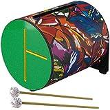 "Remo 832390 - Rhythm LOG, tambor hoja tropical, 8"", color rojo / verde"