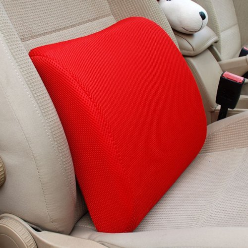THG alta espuma de memoria Resilient Red asiento trasero Amortiguador Apoyo Dolor Pillow Pad Car Oficina Silla lumbar inferior