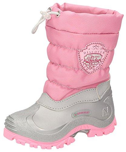 Spirale Sabrina Mädchen Winterstiefel, Schneestiefel für Kleinkinder, Kinder Schlupfstiefel, Canadian Boot, Warm gefüttert, Wasserabweisend Pink (Rosa (792)), EU 32