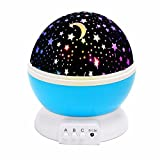 (Promotion)Star Light, SOLMORE Star Lighting Lamp Starry Sky Moon Night Light Projector 4 LED beads...