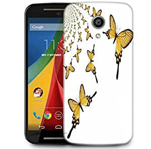 Snoogg Kaleidoscopic Butterflies Designer Protective Phone Back Case Cover For Motorola G 2nd Genration / Moto G 2nd Gen