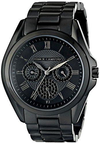Vince Camuto VC/5187BKBK - Reloj para mujeres, correa de acero inoxidable color negro