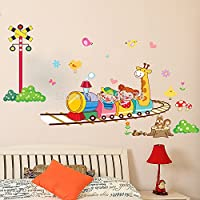 Akimgo (TM) Vacanze poco costosa di promozione The Crazy Roller Coaster Dolphin mur catoon dei bambini in camera Autocollant murale fai da te Bagno Chambre Sticker murale