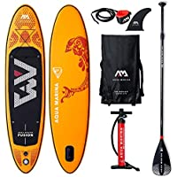 Aqua Marina Fusion-All-Around iSUP, 3.15m/15cm, with Paddle and Safety Leash, Adultos Unisex, Orange, Uni