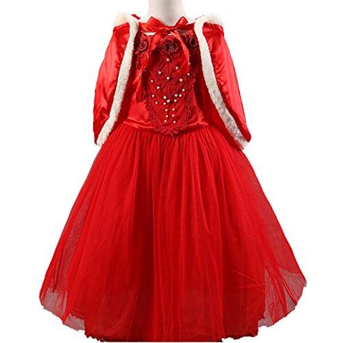 Vlunt Maedchen Hochzeit Prinzessin Kleid Kostuem Karneval Verkleidung Party Cosplay Kleid
