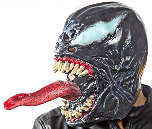 Nick and Ben Venom Maske Latex Kostüm Halloween Fasching Universe Mask Verkleidung One Size