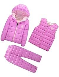 Dr.mama tres piezas abrigo de plumón + pantalones de de plumón + chaleco de plumón la combinación perfecta dale a su bebé confort y calidez resistir el frío