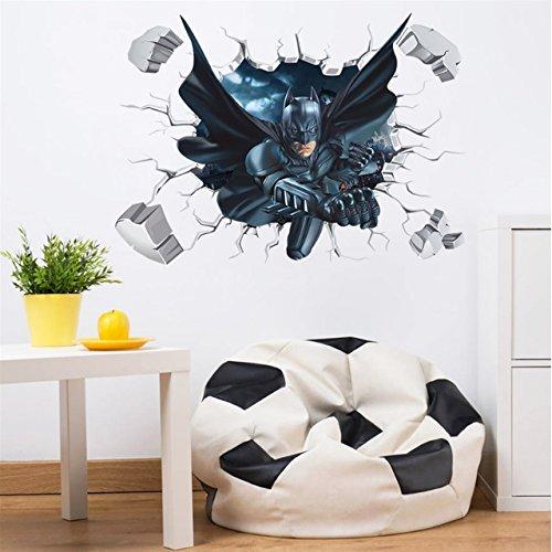 Sticker mural Batman 3D Décoration de la Maison Papier Peint Enfants Chambre Cadeau Multi-couleur