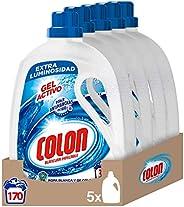 Colon Gel Activo - Detergente para lavadora, adecuado para ropa blanca y de color, formato gel - pack de 5, ha