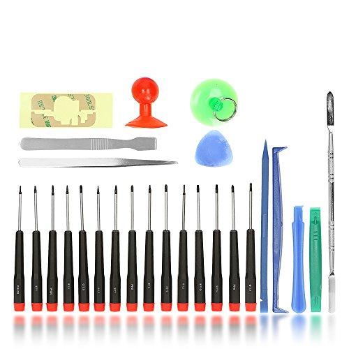 Preisvergleich Produktbild Smartphone Repair Set, hochwertiges Universal Präzisions- Reparatur Set u.a. für alle Apple Geräte, die Pentalobe 0.8 / TS1 / P2, 1.2 / TS4 / P5 und 1.5 / TS 5 / P6 benötigen | MacBook / Air / Pro / Retina | iMac | iPad | iPod | iPhone X, 8 Plus, 8, 7 Plus, 7, 6s Plus, 6S, 6, SE, 5c, 5s, 5, 4s, 4 | HTC U11 | Huawei Mate 9 | LG G6 | Nokia | One Plus 3T | Samsung Galaxy S8 S8 Plus S2 S3 S4 S5 S6 S7 | Sony Xperia XZ | Smartphones | Tablets | Professional Repair Opening Tool Kit | iTecXpress24