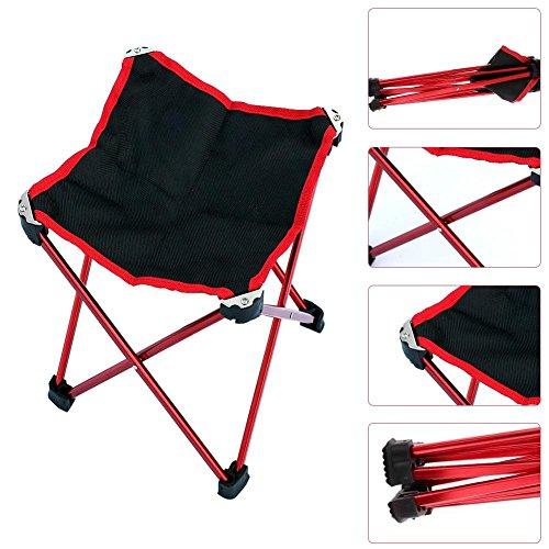 Enjoyall Tabouret Pliant, Peche Chaise Pliante Camping Chaise Pliante en Plein air Camping Randonnée Chaise de Pêche Barbecue Tabouret Pliant Tabouret portatif