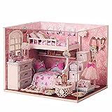 Generic Kits Diy Wood Dollhouse Miniatur...