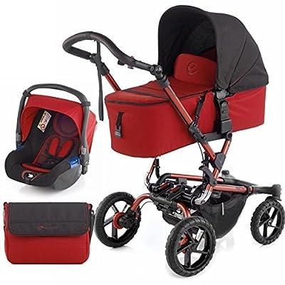 Jane Crosswalk Micro carrito de bebé (rojo)
