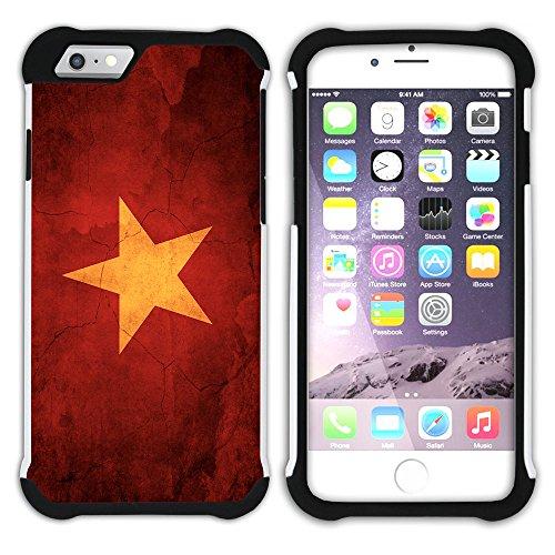 Graphic4You Vintage Uralt Flagge Von Kambodscha Kambodschaner Design Hart + Weiche Kratzfeste Hülle Case Schale Tasche Schutzhülle für Apple iPhone 6 / 6S Vietnam Vietnamesisch