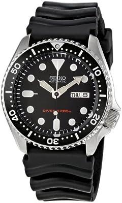 Seiko SKX007K1 - Reloj analógico automático para hombre, correa de caucho color negro