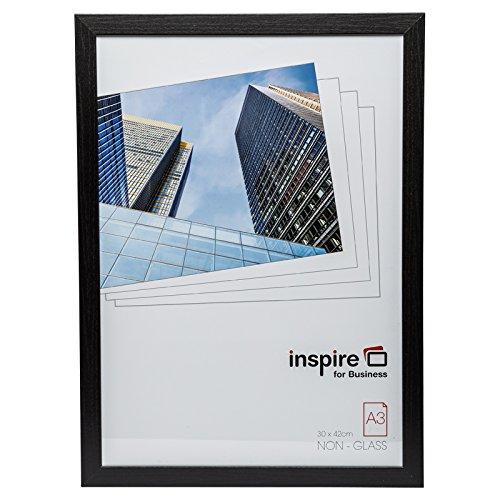Hampton Frames Oxford qualité Noir Bois a3 30x42 cm Certificat Cadre Photo Aucun écran d'Ouverture de Verre OXFA3NG
