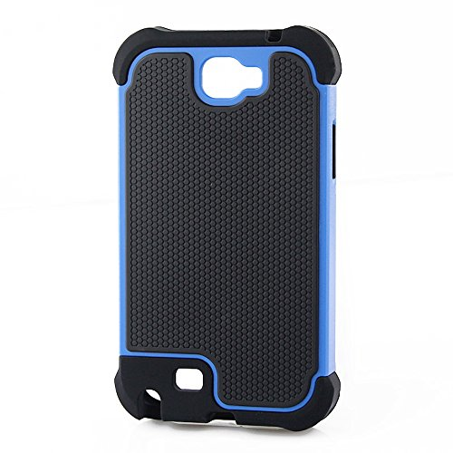 Bracevor Samsung Galaxy Note 2 N7100 Triple Layer Defender hard shell back case rugged cover- Blue  available at amazon for Rs.299